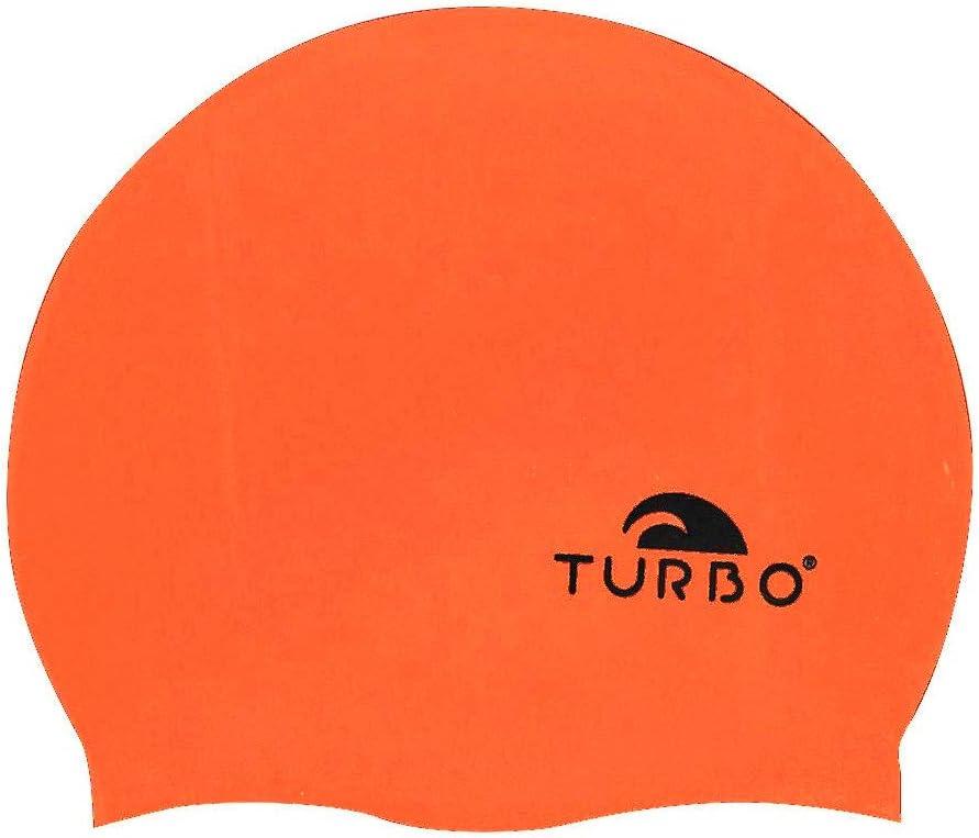 Turbo Silikon Badekappe orange f/ür Damen Herren Einheitsgr/ö/ße Schwimmen Wasserball