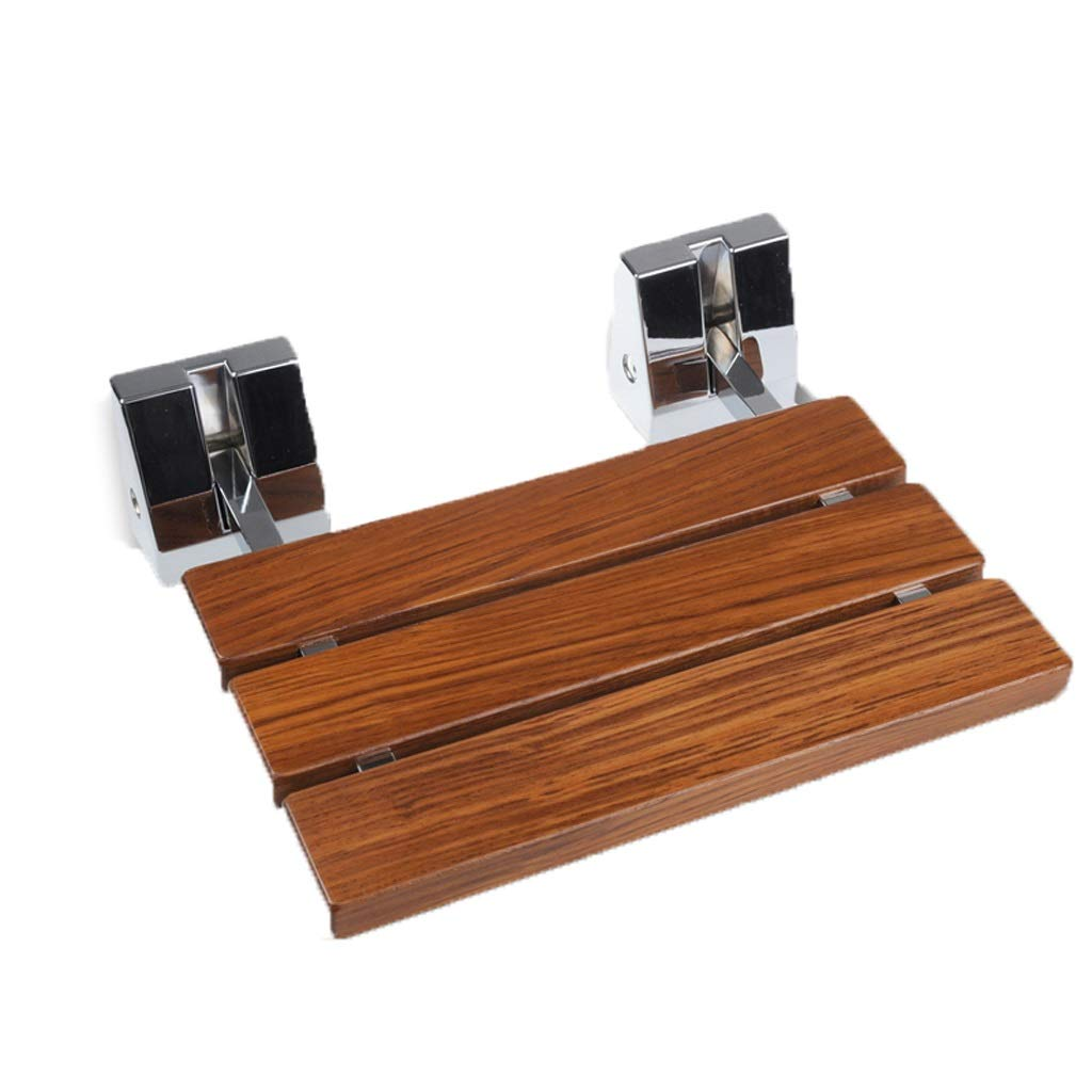 Solid Wood Teak Folding Shower Stool,Bathroom Wall Bench,Bearing Weight 150kg
