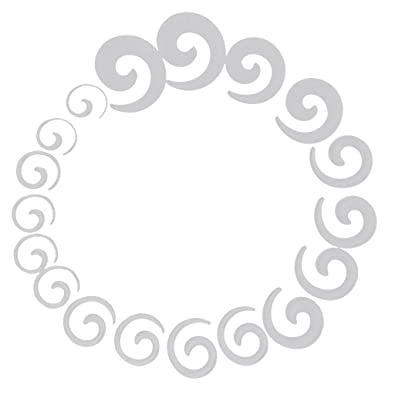 9 Pares Dilatador Expansor Forma Espiral Túnel Acrílico para Oreja Oído (transparente)