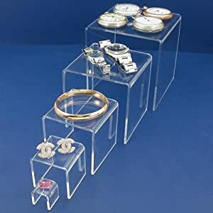 13 acrylic riser jewelry display showcase for Selling jewelry on amazon