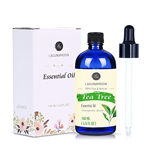 Lagunamoon Tea Tree Essential Oil,Pure Natural Therapeutic Grade Aromatherapy Oils Perfect for Diffuser,Massage,Cleaning 4.5 fl Oz