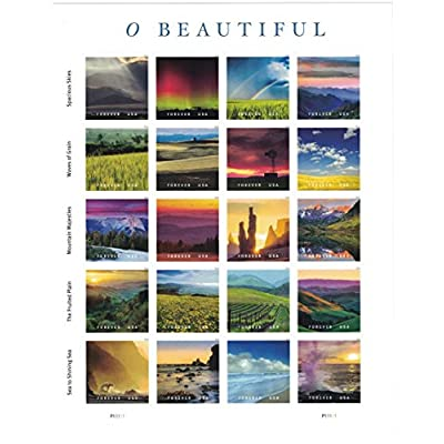 USPS Forever Stamps O Beautiful Sheet of 20 Stamps: Toys & Games