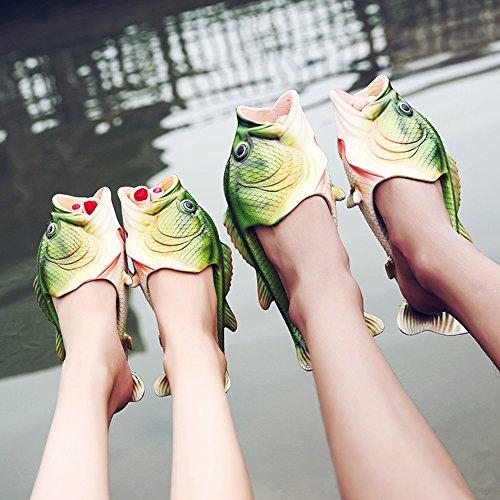 baño de para divertidas Pantuflas para el pez con unisex pantuflas playa la Tininn chanclas forma w86gxxn