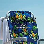 Tommy Bahama Beach Backpack Chair - Insulated Cooler Pouch - 5 Positions - Pineapple Edition - 2021 - New with