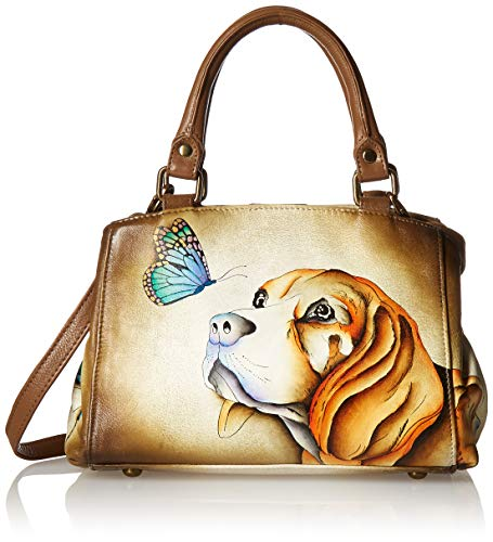 Anna by Anuschka Satchel Handbag | Genuine Leather | Puppy Love