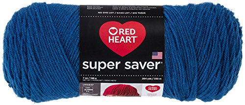 Red Heart Super Saver Yarn, Blue (New Years Art Projects)