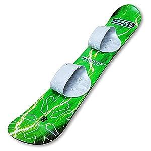 Snow Daze 110 cm Green Lightning Kids Beginner Snowboard
