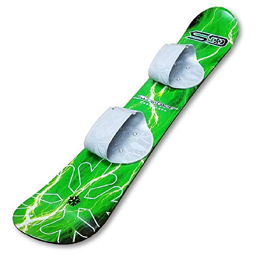 Snow Daze 110 cm Green Lightning Kids Beginner Snowboard
