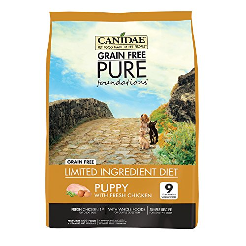 CANIDAE Grain Free PURE Foundations Puppy Dry Formula with Fresh Chicken, 12 lbs