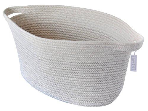 linden & isle Cotton Rope Storage Basket | Large storage bin for Toy Storage, Blankets, Living Room Decor, Nursery Storage, Laundry - 22