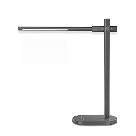 Jun q led desk lamp eye caring dimmable office table lamp with usb charging