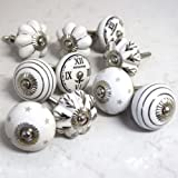 White Ceramic Knobs Drawer Knob Door handle Cabinet Puller by Artncraft