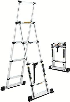 Extensibles Flip-N-Lite Plataforma de clasificación de trabajo Escalera 4/5/6 Escalera de tijera Plataforma de taburete de trabajo antideslizante de aluminio Capacidad de carga de 330 lb: Amazon.es: Bricolaje y herramientas