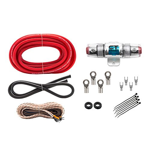 Kit Plastic Gauge - 8 Gauge Complete Amp Wiring Installation 8GA Reference Amplifier Wire kit