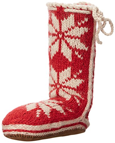 Woolrich Women's Chalet Sock Slipper, Amaryllis, Small/6-8 M US