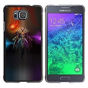 Be Good Phone Accessory // Dura Cáscara cubierta Protectora Caso Carcasa Funda de Protección para Samsung GALAXY ALPHA G850 // Pc Abstract Space Lights Samurai