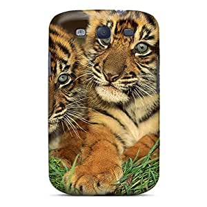 Hot Design Premium BHF2399eXFX Tpu Case Cover Galaxy S3 Protection Case(tiger Cubs)