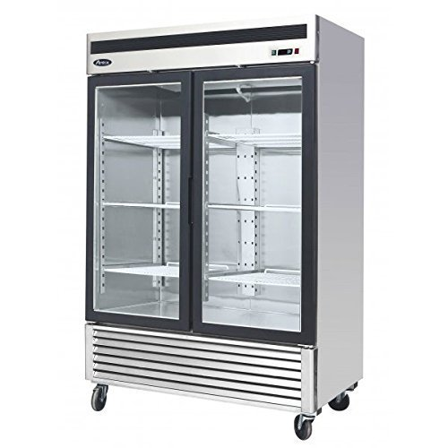 Atosa USA MCF8707 Series 55-Inch Glass Two Door Merchandiser Upright Refrigerator