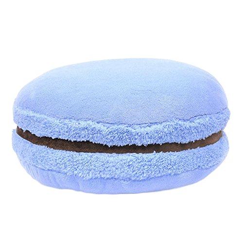 ChezMax Creative Macaron Shaped Cushion Plush Round Pillow Decorative Throw Pillow 14.5'' Light -