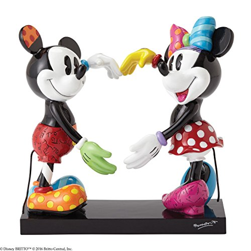 - Disney by Britto Mickey and Minnie Stone Resin Figurine