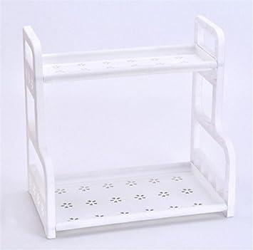 Madaye Tablette De Salle De Bain En Plastique Sur Pied Multicouche étagère  De Rangement 41*