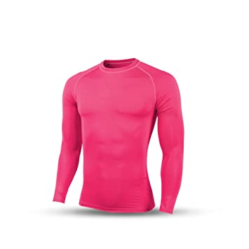 KELME elástica Manga Larga Camiseta de fútbol Medias pratice Transpirable transpiración, Hombre, Rosa,