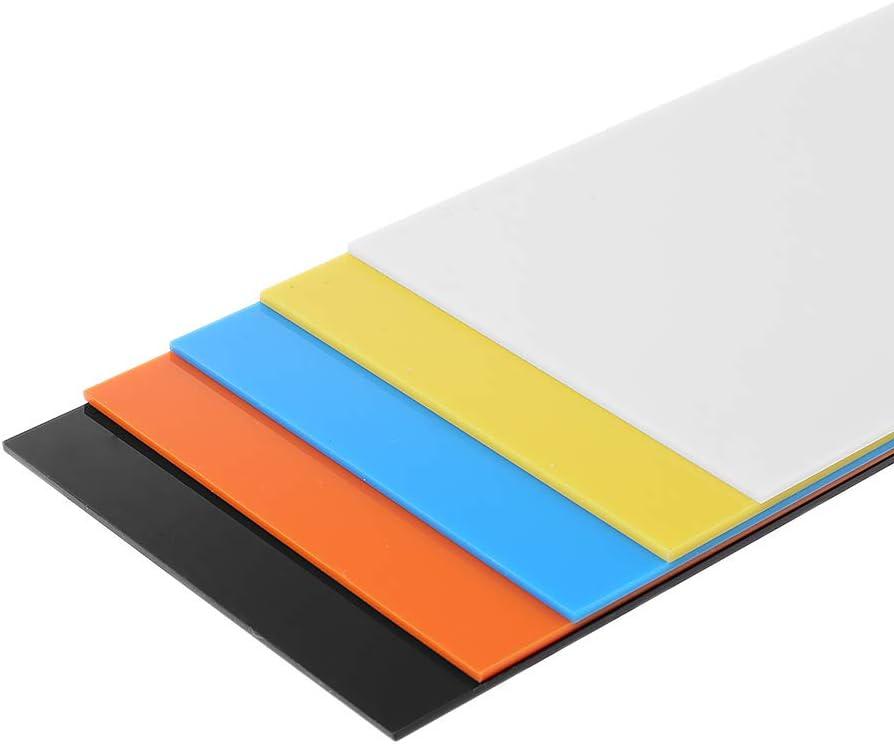 White ZJL220 10X20cm Plexiglass Board Colored Acrylic Sheet DIY Toy Accessories Model Making
