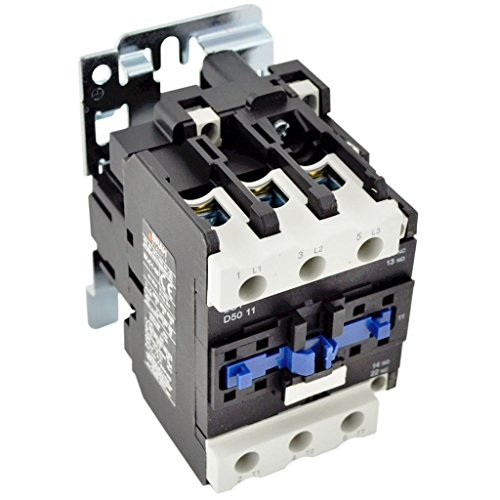 Direct Replacement for TELEMECANIQUE LC1-D50 AC Contactor LC1D50 LC1D5011-G6 120V Coil 3 Phase 3 Pole 50 ()