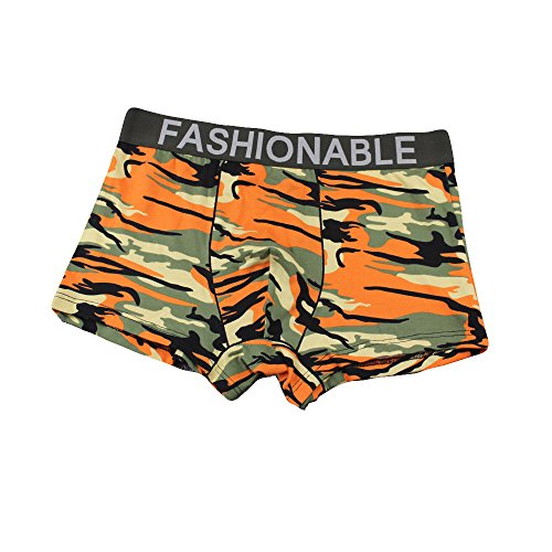 iHHAPY Men's Camouflage Boxer Briefs Cotton Maded Flat