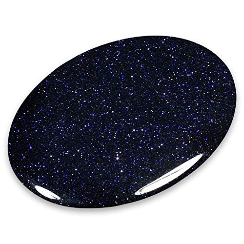 CrystalAge Blue Goldstone Palm Stone