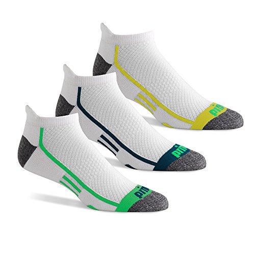Prince Men's Performance Plus No Show Tab, White Assortment, Sock Size: 10-13/Shoe Size:9-11