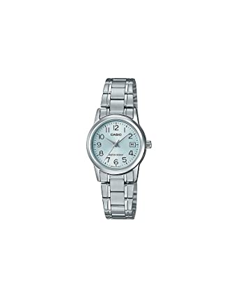 5faca9667 Relógio Feminino Casio LTP-V002D-2BUDF-BR - Prata: Amazon.com.br ...