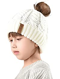 Winter Hats For Girls Ponytail Beanie Hat Kids Toddler...
