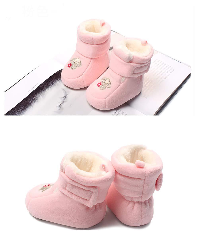 4b6c5108 Para niñas Tukistore Invierno Espesar Caliente Botas de Nieve de Bebé niña  niño Botas de recién Nacidos de Suela Blanda Botas de Cuna ...
