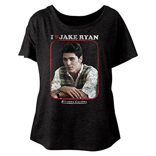 American Classics Sixteen Candles Jake Heart Ladies Short Sleeve Dolman T Shirt L