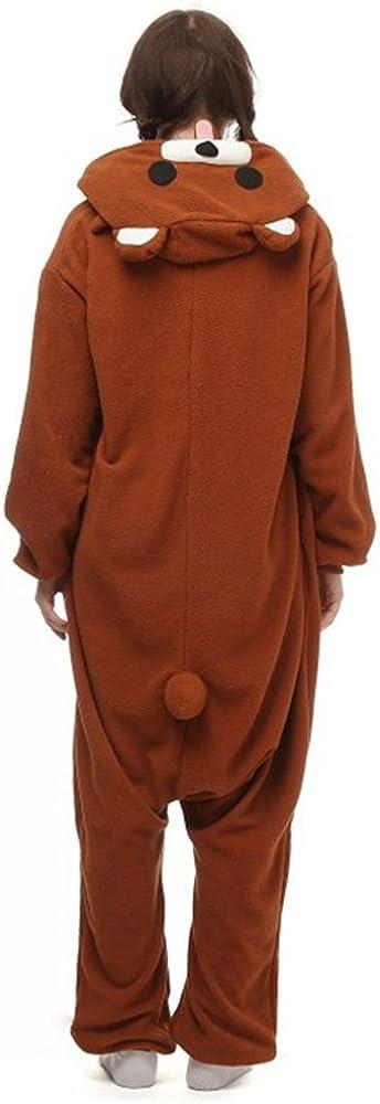 dressfan Unisex Adult Animal Pyjamas Braun B/är Cosplay Kost/üm