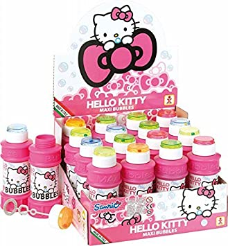 Hello Kitty Paquete De 6 Maxi Burbujas Tubo De 175ml - Party Bag Toys - Party