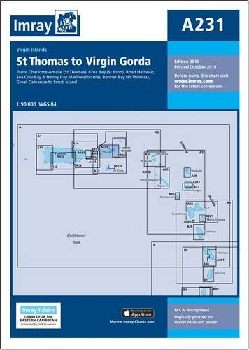 Imray Chart A231: Virgin Islands - St Thomas to Virgin Gorda (Iolaire)