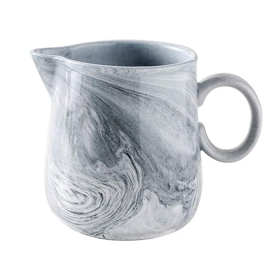 Jarra de cerámica de mármol sintético para café y leche ...