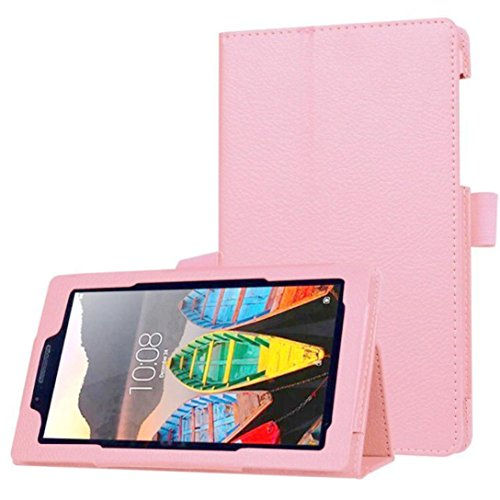 Sikye Ultra Slim Flip Floding Leather Case Cover For Lenovo Tab3 7 Essential(710F (Pink)