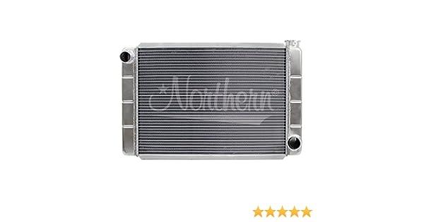 Northern 209679 24 X 19 GM Chevy Style Universal 2-Row Aluminum Radiator RacePro
