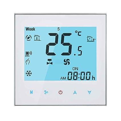 Remoto controlador de temperatura Control Central APP del acondicionador de aire 4 Tubo de termostato de