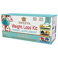 Hyleys 14 Days Weight Loss Kit - 42 Tea Bags Sugar Free, Gluten Free and Non-GMO)