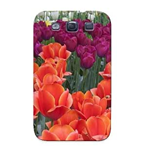 Storydnrmue Tpu Case For Galaxy S3 With Colorful Tulips, Nice Case For Thanksgiving Day's Gift