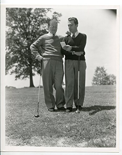 (MOVIE PHOTO: Nick Lucas-Singer-Jazz-Golf-8x10-B&W-Promotional-Still-VG)