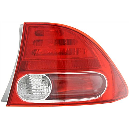 Tail Light for Honda Civic 06-08 Right Side Outer Lens and Housing Sedan