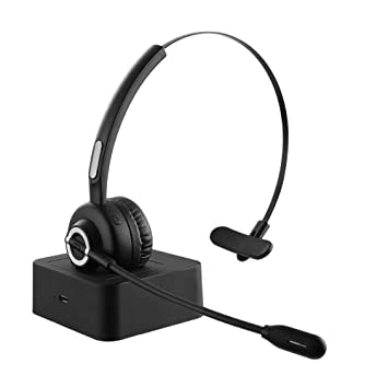 ESOLOM Bluetooth Headset con micrófono, Teléfono Auricular para iPhone Samsung Huawei HTC LG ZTE Blackberry Android: Amazon.es: Informática
