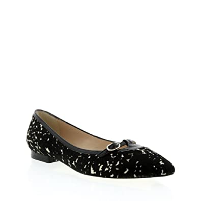 2a49e5313 Amazon.com | L.K. Bennett Black/White Pony Flat Pump W/Small Mary ...