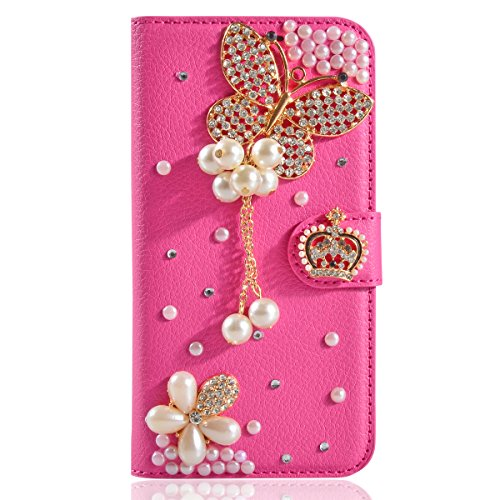 J3 Case,Express Prime Case,Amp Prime Case,Gift_Source [Card Slot] 3D Bling Crystal Handmade Diamond Leather Wallet Flip Folio Case for Samsung Galaxy …