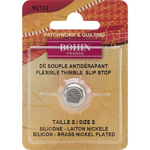 UPC 499990816553, Bohin Silicone Thimble with Steel Top, Small